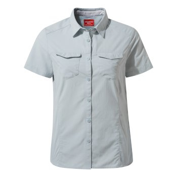 Women's Insect Shield® Adventure II Short-Sleeved Shirt  - Mineral Blue