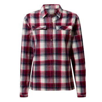 Dauphine Long-Sleeved Shirt - Winter Rose Check