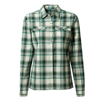 Women's Dauphine Long-Sleeved Shirt - Verde Check