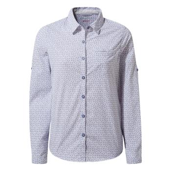 NosiLife Gisele Long Sleeved Shirt - Paradise Blue Print