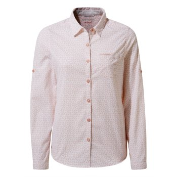 Women's Insect Shield® Gisele Long-Sleeved Shirt - Corsage Pink Print