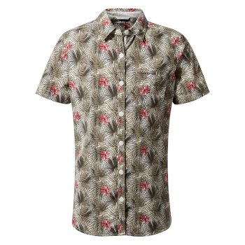 NosiLife Vanna Short Sleeved Shirt - Soft Moss Print