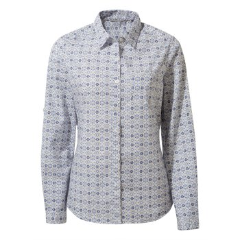 Kiwi II Long Sleeved Shirt - Galaxy Blue Print