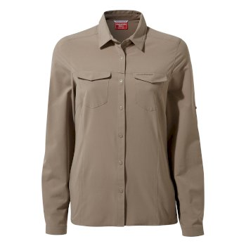 Women's Insect Shield® Pro III Long-Sleeved Shirt - Mushroom
