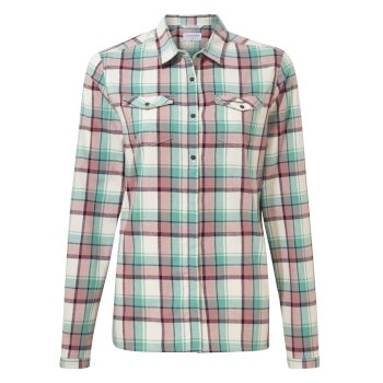 Genevive Long Sleeved Shirt - Peppermint Check
