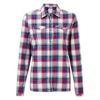 Genevive Long Sleeved Shirt - Blackcurrant check