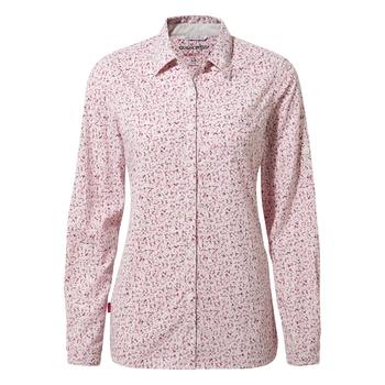 Nosilife Fara Long Sleeved Shirt - Raspberry Print