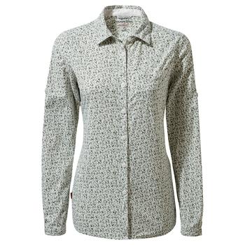 NosiLife Fara Long Sleeved Shirt - Sage Print