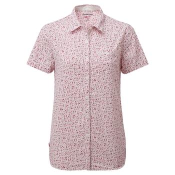 NosiLife Tayma Short Sleeved Shirt - Raspberry Print