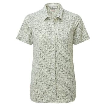 NosiLife Tayma Short Sleeved Shirt - Sage Print
