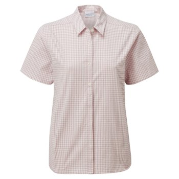 Women's Nasima Short Sleeved Shirt - Brushed Lilac Check