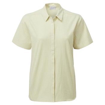 Women's Nasima Short Sleeved Shirt - Flax Yellow Check