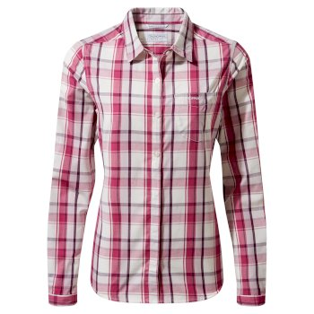 Women's Kiwi II Long Sleeved Shirt - Raspberry Check
