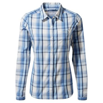 Women's Kiwi II Long Sleeved Shirt - Harbour Blue Check