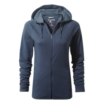 Women's Insect Shield® Sydney Hooded Top - Soft Navy