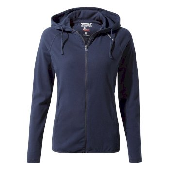 Women's Insect Shield® Sydney Hooded Top - Blue Navy