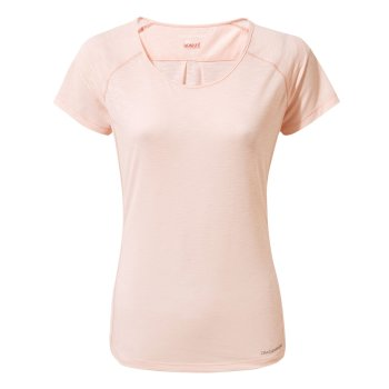 Insect Shield Harbour Short-Sleeved Top - Seashell Pink