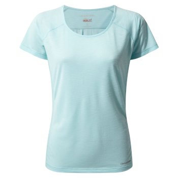 Insect Shield® Harbour Short-Sleeved Top - Capri Blue
