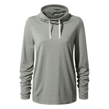 1st Layer Long-Sleeved Top  - Sft Grey Mrl