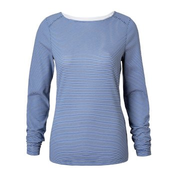 Insect Shield Erin Long-Sleeve Top - Soft Denim Stripe