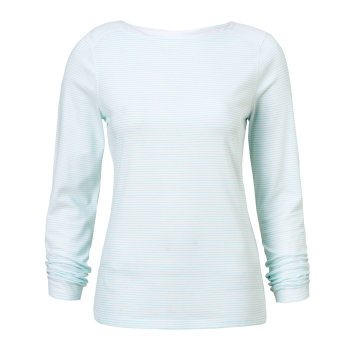Insect Shield Erin Long-Sleeve Top - Seaspray Stripe