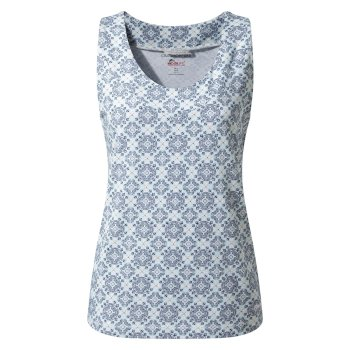 Insect Shield Allesa Vest Top - Venetian Teal Print