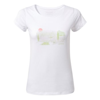 Cornelia Tree Landscape T-Shirt Optic White