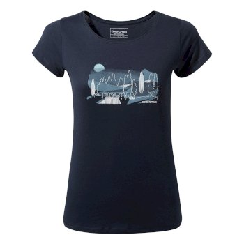 Cornelia Tree Landscape T-Shirt Blue Navy