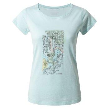 Cornelia Tree Landscape T-Shirt Capri Blue