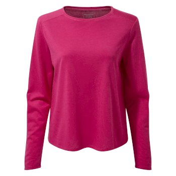 First Layer Long-Sleeved T-Shirt - Winter Rose Stripe