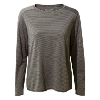 First Layer Long-Sleeved T-Shirt - Charcoal Stripe