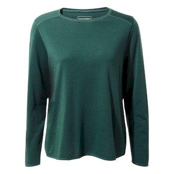 First Layer Long-Sleeved T-Shirt - Mountain Green Stripe