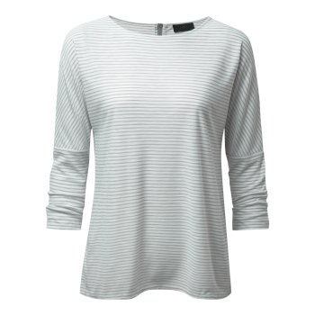 NosiLife Shelby Long-Sleeved Top - Soft Grey Combo