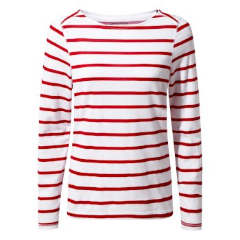 NosiLife Erin II Long-Sleeved Top  - Winter Rose Stripe