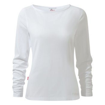 Erin II Long-Sleeved Top  - Optic White