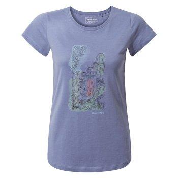 Lima Short Sleeved T-Shirt - Paradise Blue Watercolour City