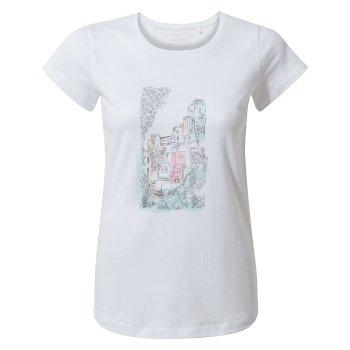 Lima Short Sleeved T-Shirt - Optic White Watercolour City