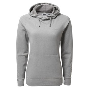 NosiLife Alandra Long Sleeved Hooded Top - Soft Grey Marl