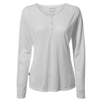 Women's Insect Shield® Kayla Long-Sleeved Top - Optic White