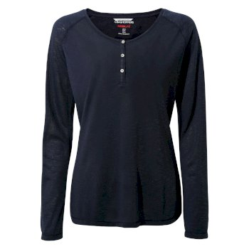 Insect Shield® Kayla Long-Sleeved Top - Blue Navy