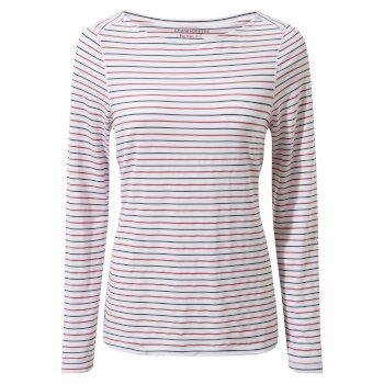 NosiLife Erin Long Sleeved Top - Blue Navy / Pompeian Red Stripe