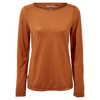 NosiLife Erin Long Sleeved Top - Toasted Peacan
