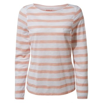 NosiLife Erin Long Sleeved Top - Corsage Pink Stripe