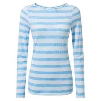 NosiLife Erin Long Sleeved Top - Mediterranean Blue Stripe
