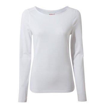 NosiLife Shelby Long Sleeved Top - Optic White