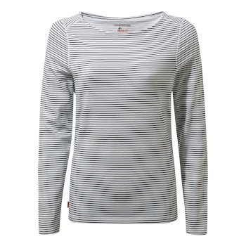 Women's Insect Shield® Erin Long-Sleeved Top    - Blue Navy Stripe