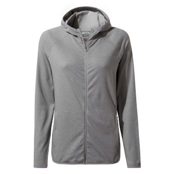 Insect Shield® Nilo Hooded Top - Cloud Grey Marl