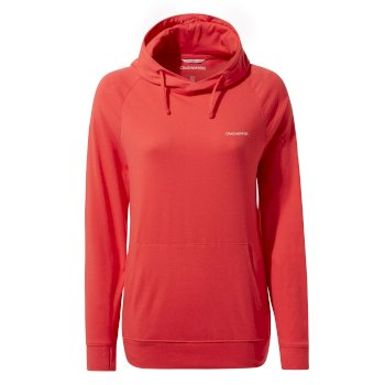 Women's Insect Shield® Alandra Hooded Top - Rio Red