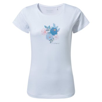 Miri Short Sleeved T-Shirt - Optic White Floral