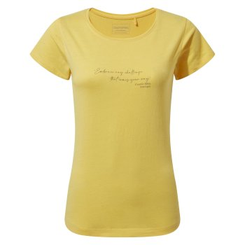 Miri Short Sleeved T-Shirt - Limoncello Quote